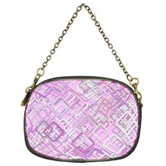 Pink Modern Background Square Chain Purses (one Side)  by Celenk