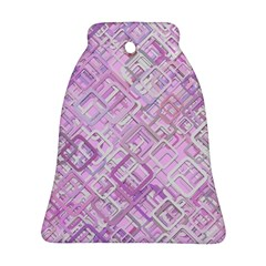 Pink Modern Background Square Bell Ornament (two Sides) by Celenk