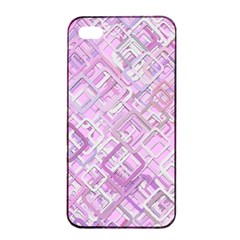 Pink Modern Background Square Apple Iphone 4/4s Seamless Case (black) by Celenk