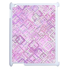 Pink Modern Background Square Apple Ipad 2 Case (white) by Celenk