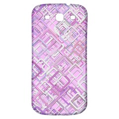 Pink Modern Background Square Samsung Galaxy S3 S Iii Classic Hardshell Back Case by Celenk