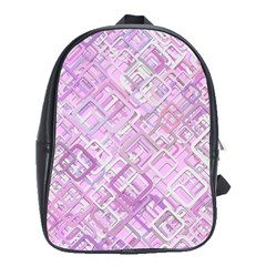 Pink Modern Background Square School Bag (xl) by Celenk