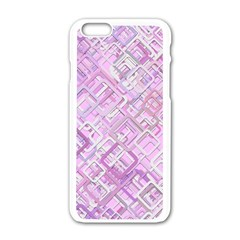 Pink Modern Background Square Apple Iphone 6/6s White Enamel Case by Celenk