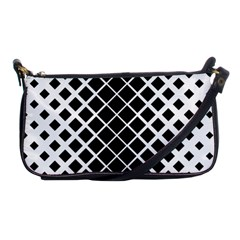 Square Diagonal Pattern Monochrome Shoulder Clutch Bags by Celenk