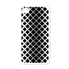 Square Diagonal Pattern Monochrome Apple Iphone 4 Case (white) by Celenk