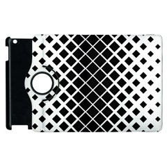 Square Diagonal Pattern Monochrome Apple Ipad 2 Flip 360 Case by Celenk