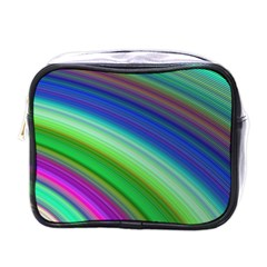 Motion Fractal Background Mini Toiletries Bags by Celenk