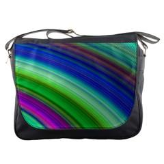 Motion Fractal Background Messenger Bags by Celenk