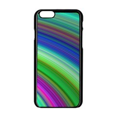 Motion Fractal Background Apple Iphone 6/6s Black Enamel Case by Celenk