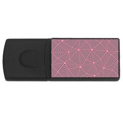 Purple Triangle Background Abstract Rectangular Usb Flash Drive by Celenk