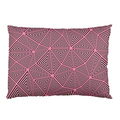 Purple Triangle Background Abstract Pillow Case (two Sides) by Celenk