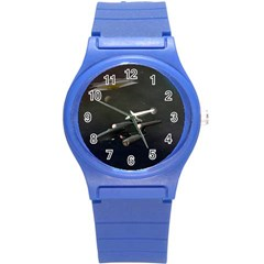 Space Travel Spaceship Space Round Plastic Sport Watch (s) by Celenk