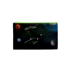 Space Travel Spaceship Space Cosmetic Bag (xs) by Celenk