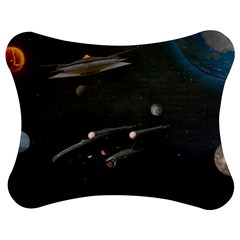 Space Travel Spaceship Space Jigsaw Puzzle Photo Stand (bow) by Celenk