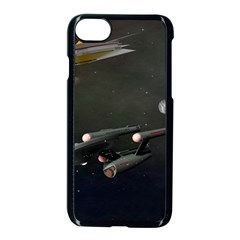 Space Travel Spaceship Space Apple Iphone 7 Seamless Case (black) by Celenk