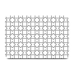 Square Line Stripe Pattern Plate Mats by Celenk