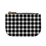 Square Diagonal Pattern Seamless Mini Coin Purses Front