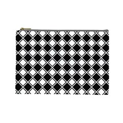 Square Diagonal Pattern Seamless Cosmetic Bag (large)  by Celenk