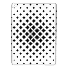 Square Pattern Monochrome Ipad Air Hardshell Cases by Celenk