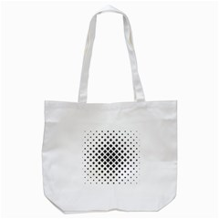 Square Pattern Monochrome Tote Bag (white) by Celenk
