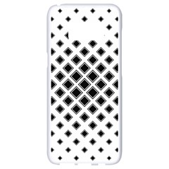 Square Pattern Monochrome Samsung Galaxy S8 White Seamless Case by Celenk