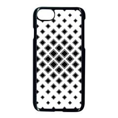 Square Pattern Monochrome Apple Iphone 8 Seamless Case (black) by Celenk