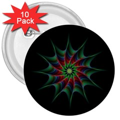 Star Abstract Burst Starburst 3  Buttons (10 Pack)  by Celenk