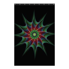 Star Abstract Burst Starburst Shower Curtain 48  X 72  (small)  by Celenk