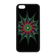 Star Abstract Burst Starburst Apple Iphone 5c Seamless Case (black) by Celenk