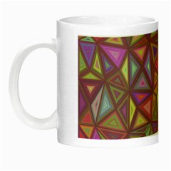 Triangle Background Abstract Night Luminous Mugs by Celenk