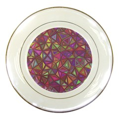 Triangle Background Abstract Porcelain Plates by Celenk