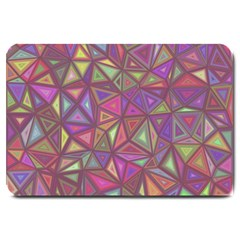 Triangle Background Abstract Large Doormat