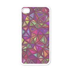 Triangle Background Abstract Apple Iphone 4 Case (white) by Celenk