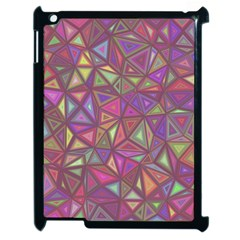 Triangle Background Abstract Apple Ipad 2 Case (black) by Celenk