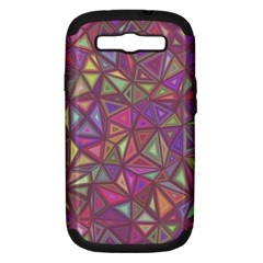 Triangle Background Abstract Samsung Galaxy S Iii Hardshell Case (pc+silicone) by Celenk