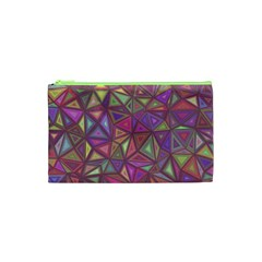 Triangle Background Abstract Cosmetic Bag (xs) by Celenk