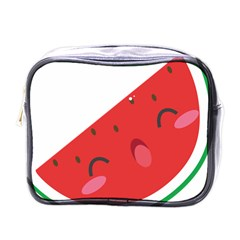 Watermelon Red Network Fruit Juicy Mini Toiletries Bags by Celenk
