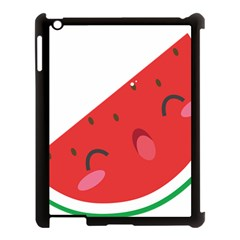 Watermelon Red Network Fruit Juicy Apple Ipad 3/4 Case (black) by Celenk