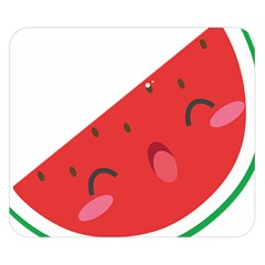 Watermelon Red Network Fruit Juicy Double Sided Flano Blanket (small)  by Celenk