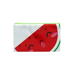 Watermelon Red Network Fruit Juicy Cosmetic Bag (xs) by Celenk