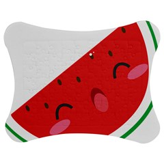 Watermelon Red Network Fruit Juicy Jigsaw Puzzle Photo Stand (bow) by Celenk