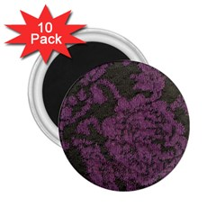 Purple Black Red Fabric Textile 2 25  Magnets (10 Pack)  by Celenk