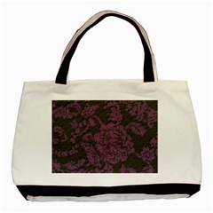 Purple Black Red Fabric Textile Basic Tote Bag (two Sides) by Celenk