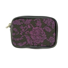 Purple Black Red Fabric Textile Coin Purse by Celenk