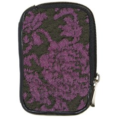 Purple Black Red Fabric Textile Compact Camera Cases by Celenk