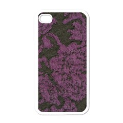 Purple Black Red Fabric Textile Apple Iphone 4 Case (white) by Celenk