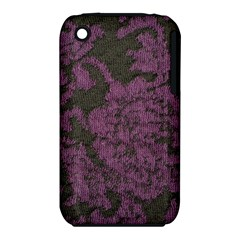 Purple Black Red Fabric Textile Iphone 3s/3gs by Celenk