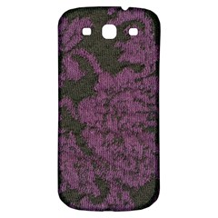 Purple Black Red Fabric Textile Samsung Galaxy S3 S Iii Classic Hardshell Back Case by Celenk