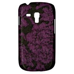 Purple Black Red Fabric Textile Galaxy S3 Mini
