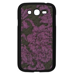 Purple Black Red Fabric Textile Samsung Galaxy Grand Duos I9082 Case (black) by Celenk